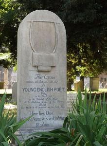 John Keats tombstone
