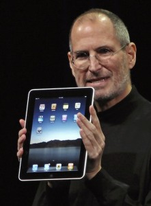 Steve Jobs introduces the iPad