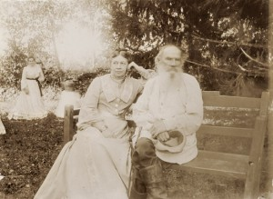 Sofia Tolstoy with her husband, Leo