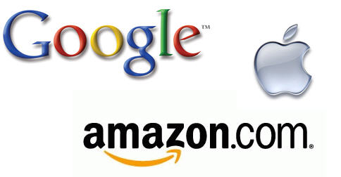google 1996 logo. between Amazon, Google,