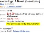 Penguin is still selling ebooks on Amazon under agency pricing.