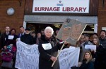 'Not a closed book', campaigners outside Burnage library in March