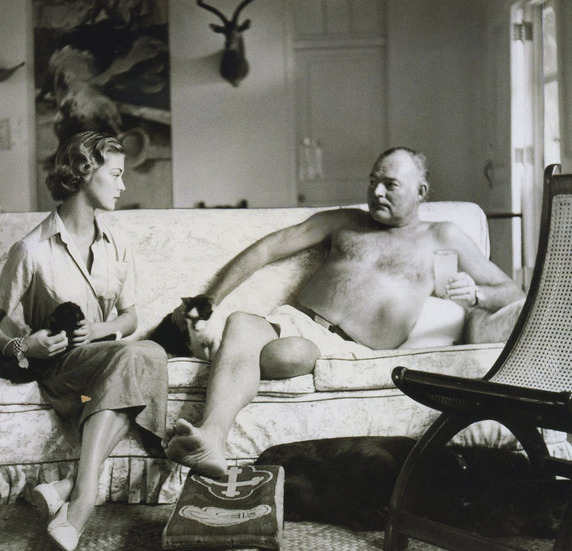 Ernest Hemingway with Jean Patchett