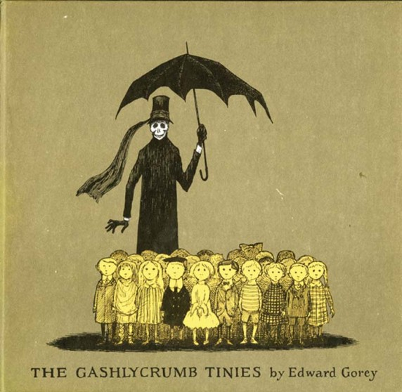 The next three pages are from Edward Gorey's book The Gashlycrumb Tinies.