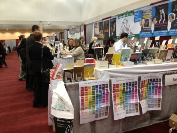 Random House loved our novella poster so much that they displayed three copies on the side of their booth.