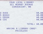 "Are libraries ""priceless""?"