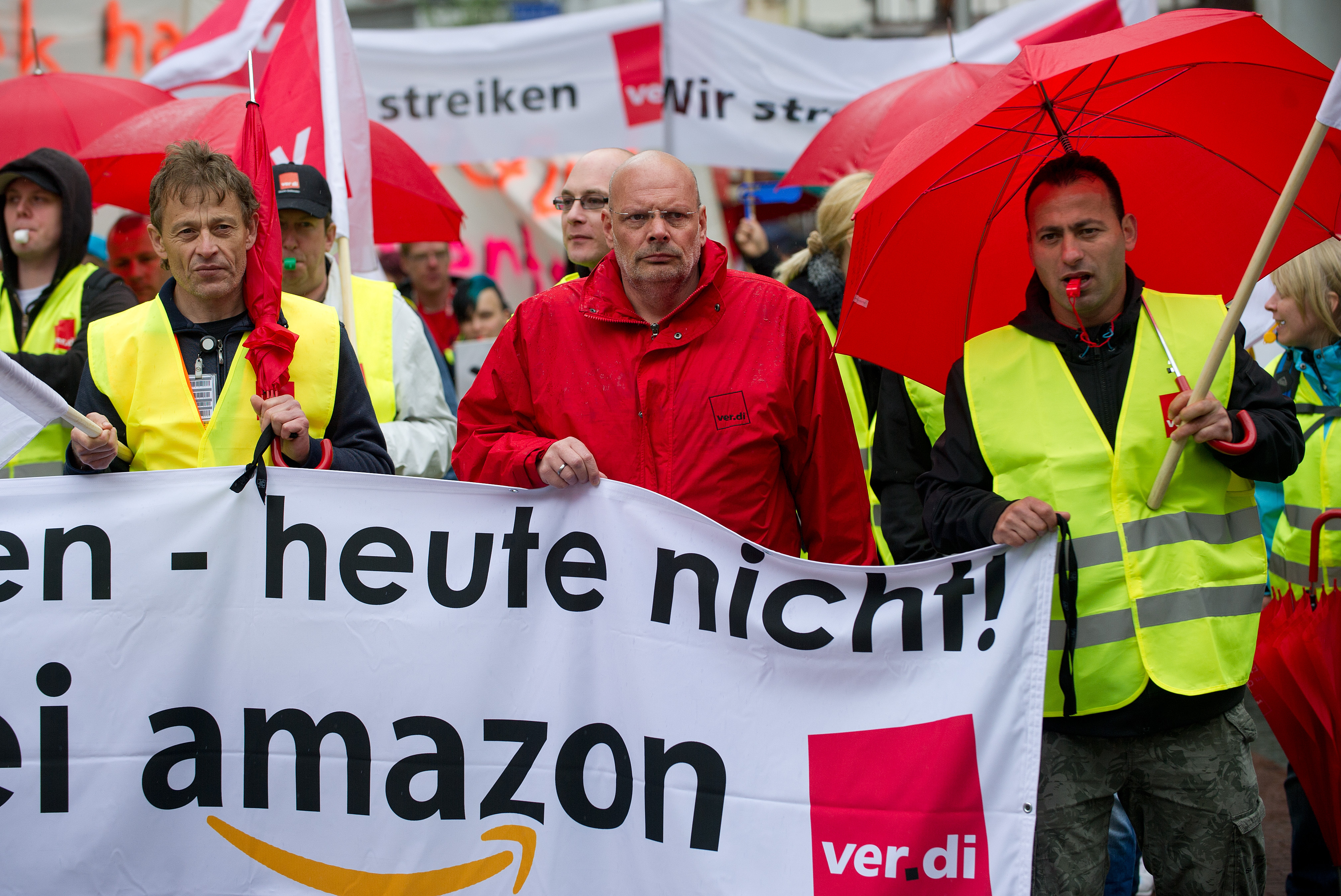 German Amazon workers strike again