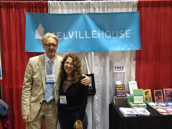 Melville House publisher Dennis Johnson with translator Annie Janusch.