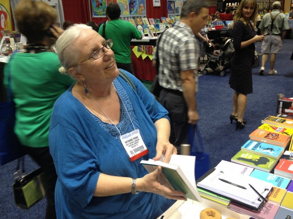 Katharine Phenix, a member of American Library Association's Notable Books Council, stopped by the Melville House booth to say hello.