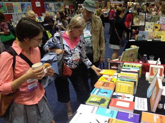 Librarians browsed our through the International Crime, Last Interview, Art of the Novella, and Neversink Library series at the Melville House booth.