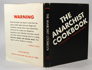 A first edition of The Anarchist Cookbook, a book the author has asked to be taken out of circulation