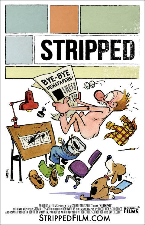 Stripped poster art