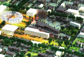 "A rendering of a plan for the ""Barack Obama Community Library"" in Chicago by Michael Sorkin."