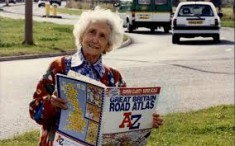 Pearsall on the road with her A-Z map