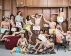French booksellers protest the attempted censorship of children's book Everybody Get Naked by getting naked