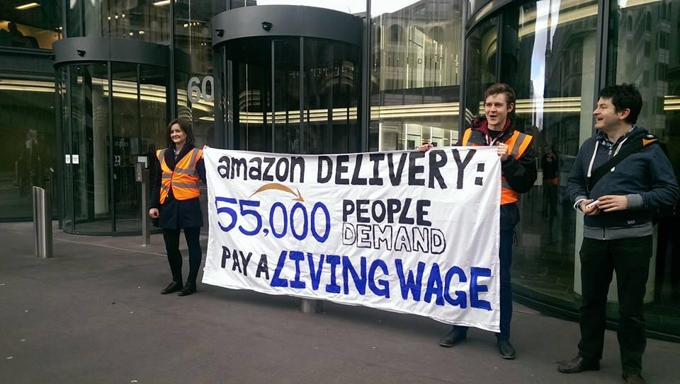 The cost of Amazon is too high: Petition with 55,000 signatures delivered to UK office