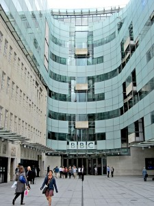 """""""The BBC's new facade"""" by Andy Worthington via Flickr"""