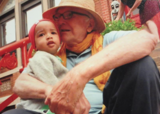 """J Pearllinda Vanburen posted this photo of Ned O'Gorman with her son online, saying """"Ned was an great educator and my son Emperor's Montossori teacher. He had a special fondness for Emperor for which I was greatful that Emperor was chosen to be a part of his school. RIP Ned O'Gorman , Harlem and hundrends of children will deeply miss you."""""""