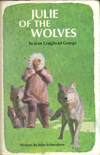 The first-edition cover of Julie of the Wolves