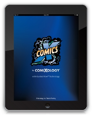 ComiXology on the iPad. Still shiny, just much less convenient.