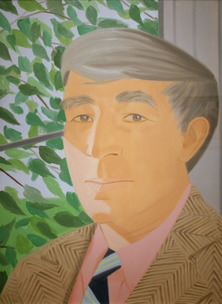 Painting of Updike by Alex Katz via Flickr.