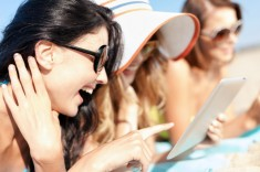 """Teenagers laughing at a """"Clean Teen"""" book -- I hope via Shutterstock"""