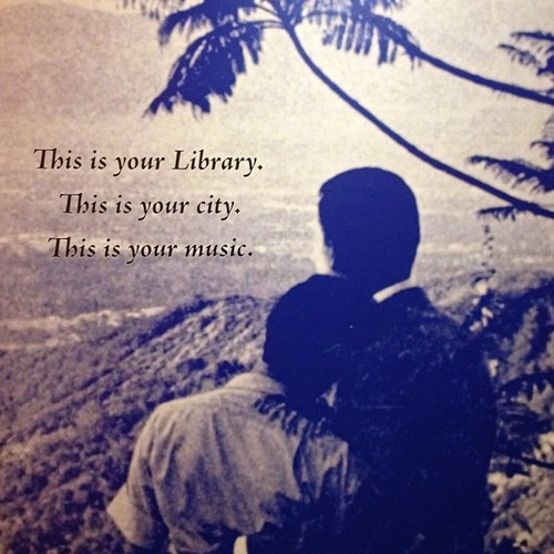 A romantic poster from the Los Angeles Public Library.