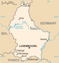 Luxembourg.  It's close to France. But it's not the same thing.