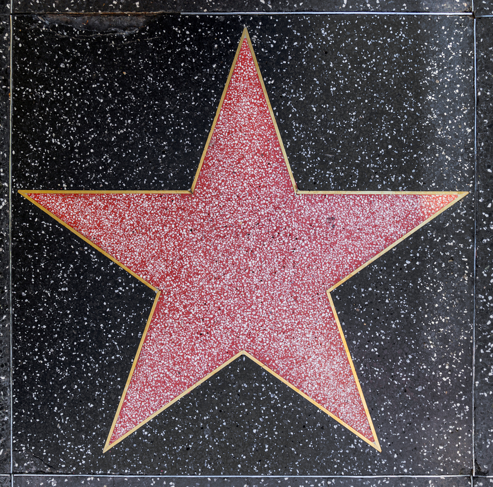 Hilaire image inside hollywood star template printable