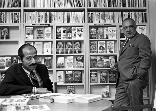 Oscar Dystel, on the right, turned Bantam Books into a paperback house.