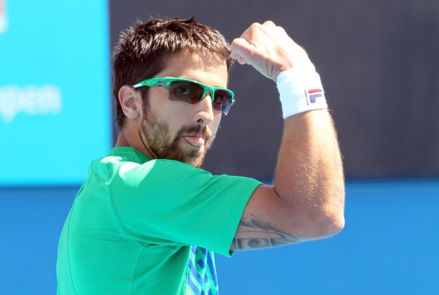 Serbian tennis player Janko Tipsarevic has tattoos inspired by Dostoevsky and Schopenhauer, and claims Nietzsche as one of 3 people he'd most like to meet for coffee. Image via www.jtipsarevic.com