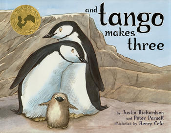 The story of two male penguins who adopt a chick is one of three books the National Library Board of Singapore has decided to pulp because of complaints from the public. Image via Simon & Schuster
