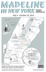 Map of Bemelmans's New York, illustrated by Adrienne Ottenburg