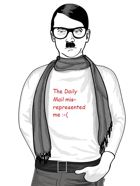 With apologies to Hipster Hitler.