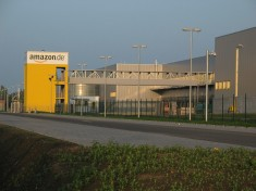 The Amazon logistics center at Leipzig, one of five included in the strike. Image via Wikipedia.
