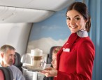 Why flight attendants want our eyes on them and them only