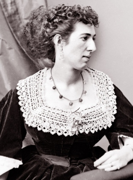 """Belle Boyd: kicking asses, wearing antimacassars. Image via the """"House Divided"""" site, Dickinson College."""