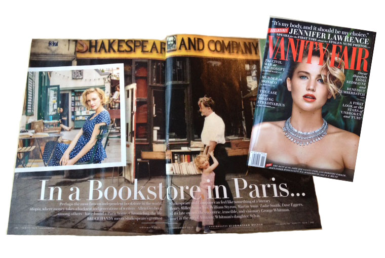 Bruce Handy profiles Paris bookstore Shakespeare and Company in the November issue of Vanity Fair.