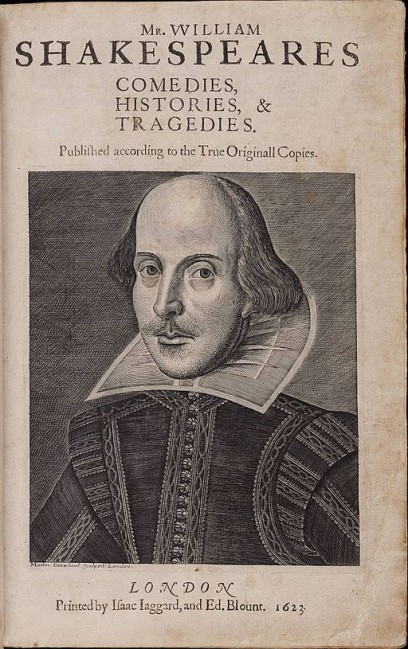 A rare copy of Shakespeare's First Folio has been discovered in France. via Wikimedia Commons