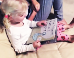 Two-year-old becomes an internet sensation thanks to her public library