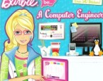 Barbie's ambitions of being a computer engineer are impossible without the help of her male friends