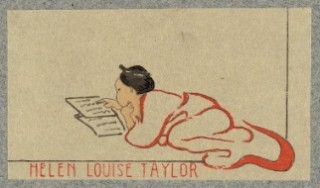 Bookplate of Helen Louise Taylor, Cincinnati, Ohio. Print by Helen M. A. Taylor, between 1900 and 1930. From the Library of Congress.