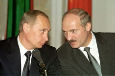 President Lukashenko, pictured with a buddy. Image via Wikipedia.