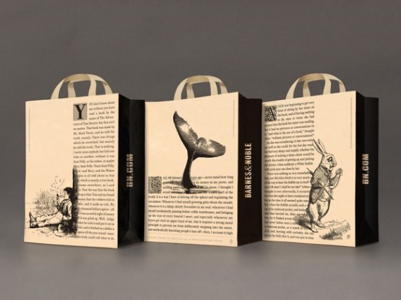 Barnes & Noble's got a brand new bag.  (Hey! Come on!)