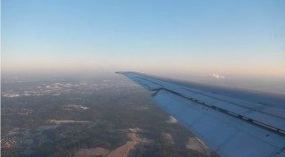 View from an airplane landing at Atlanta's Hartsfield-Jackson International Airport (via YouTube)