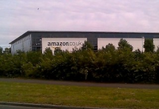 A (now closed) Amazon warehouse in Scotland. Until recently, Amazon channeled purchases through its office in Luxembourg, avoiding taxes in the U.K.