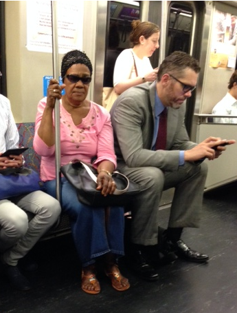 It's a common sight to see men taking up too much space on the subway in a way that makes women feel uncomfortable.