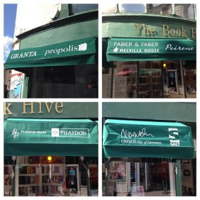 Book Hive's new window awning