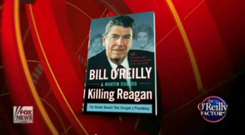 With only the Fox network and the Macmillan publishing company behind him, O'Reilly continues his lonely quest for attention. Image via YouTube